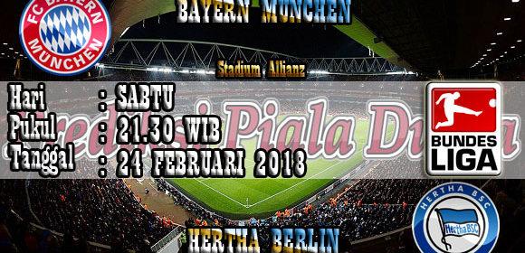Prediksi Bayern Munchen vs Hertha Berlin 24 Februari 2018