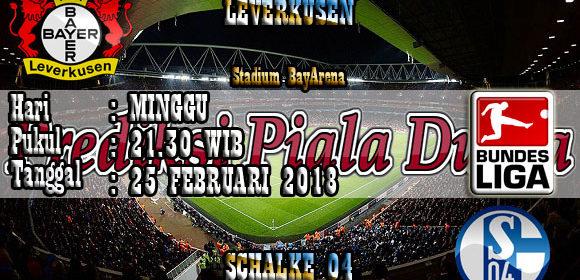 Prediksi Leverkusen vs Schalke 04 25 Februari 2018