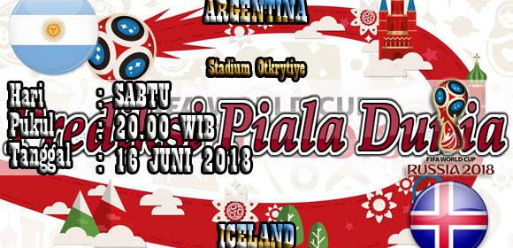 Prediksi Pertandingan Argentina vs Iceland 16 Juni World Cup 2018